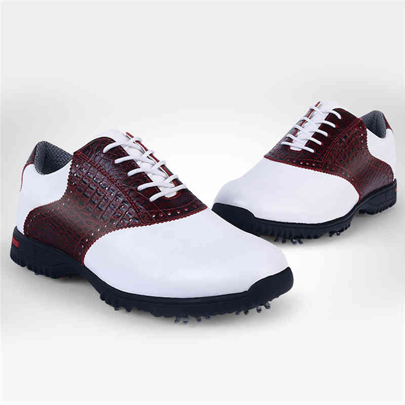 PGM Golf Shoes Mens Waterproof Golf Shoes Men Outdoor Sports Anti-skid Breathable Leather Shoes Professional Taining Golfs Sport pgm men golf shoes genuine leather breathable ultra light brown waterproof sneakers sport golf shoes mens zapatos charol hombre