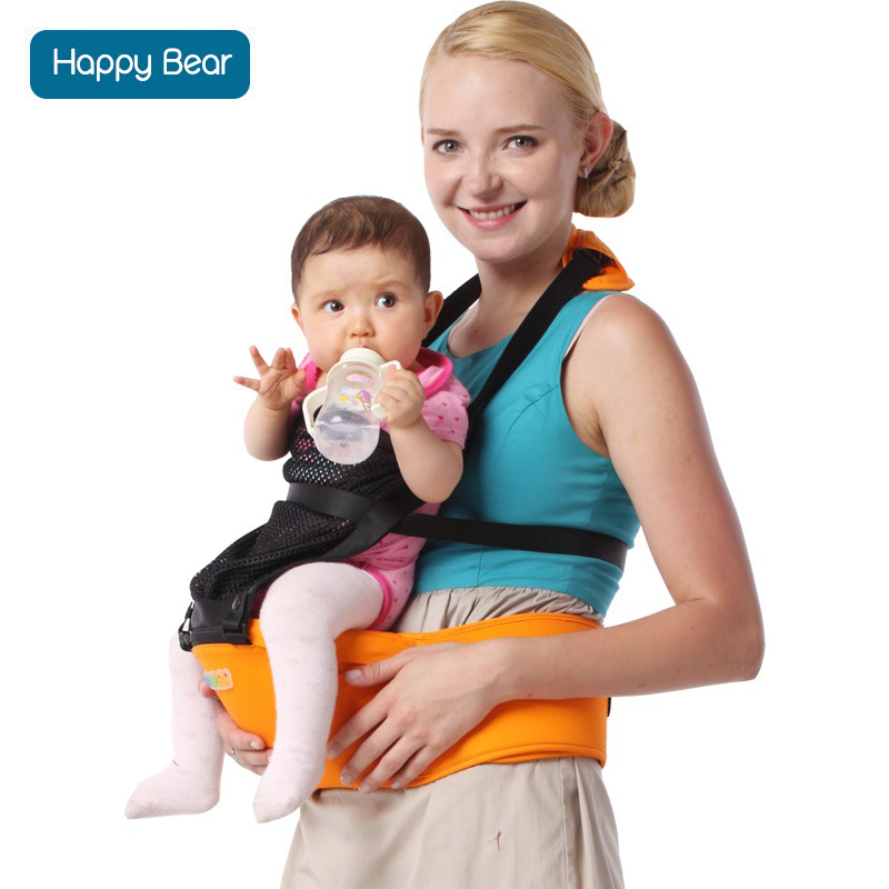 HappyBear Baby Carrier Multifunctional Breathable Kangaroos BackPack Infant Sling Carrier Hip Seat Baby Carrier 8025 baby carrier backpack