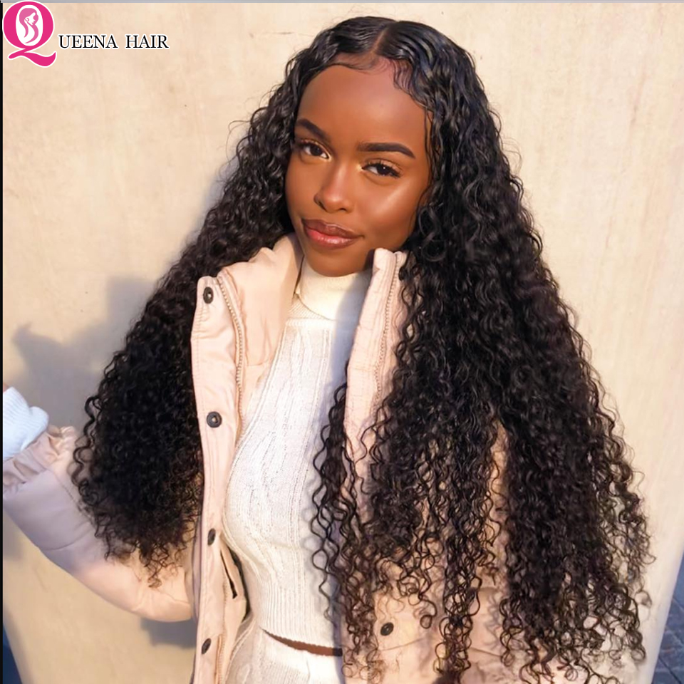 Raw Indian Hair Kinky Curly Bundles With Frontal Closure Remy Human Hair 3 Bundles With Lace Frontal Pre Plucked With Baby Hair