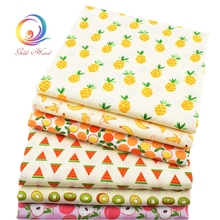 Cartoon Fruit Series Twill Cotton Fabric,Patchwork Tilda Cloth,DIY Sewing Quilting Fat Quarters Material For Baby&Child 6pcs/lot