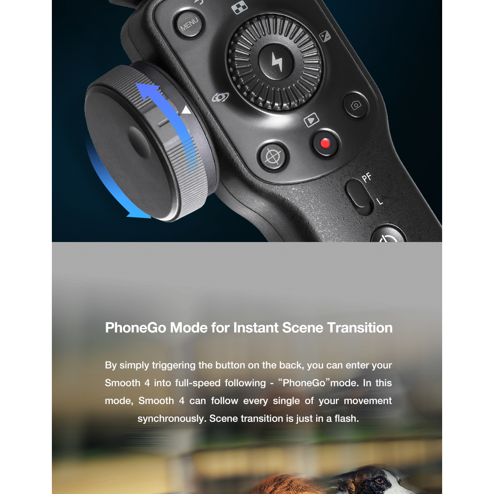 ZHIYUN Official Smooth 4 3-Axis Handheld Smartphone Gimbal Stabilizer VS Smooth Q Model for iPhone X 8Plus 8 7 6S Samsung S9S8S7 4
