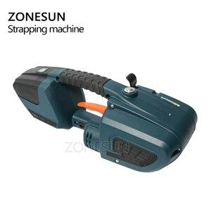 Image 4 - ZONESUN מכונת 13mm 16mm PET/ PP פלסטיק רצועות סוללה מופעל 4.0A/12V ג וינט גלישת מכונת עם 2 סוללות