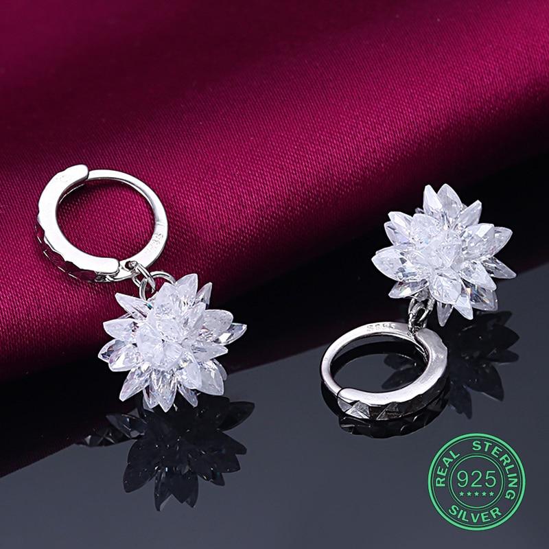 Pendiente de plata de ley 925 para mujer, joyería fina, elegante, - Joyas