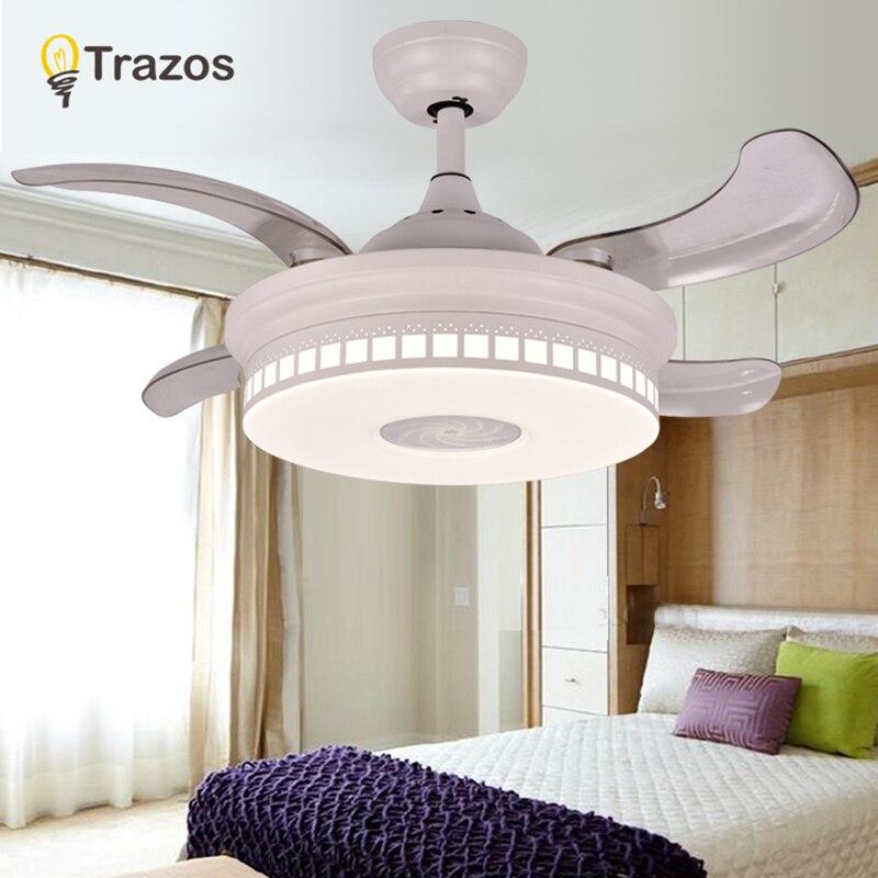 TRAZOS Ceiling Fans Without Light Bedroom 220v Ceiling Fan Wood Ceiling Fans With Lights Remote Control Ventilador De Teto цена