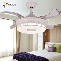 TRAZOS Ceiling Fans Without Light Bedroom 220v Ceiling Fan Wood Ceiling Fans With Lights Remote Control Ventilador De Teto