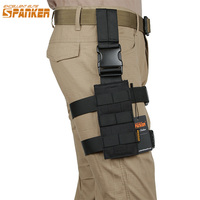 Spanker Outdoor Hunting Modular Tactical Mini Drop Leg Holster Military 1050D Nylon Molle Ammo Clips Bag