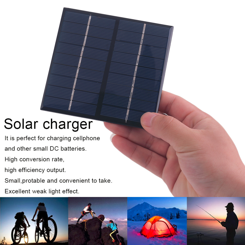 Professional 9V 2W 200Mah Solar Panel Module System Solar Energy Power Charger For Battery Mobile Phone Charger Hot Sale