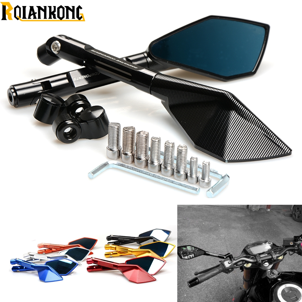 Italy Brand logo mark Motorcycle Rearview side Mirrors CNC Aluminum for Honda CB CBR 300 599 600 600F 1000 1000R 1100 650F