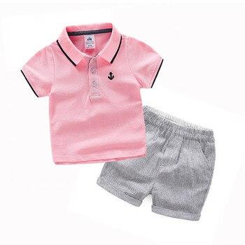 תינוק פנאי חליפת 2019 קיץ חדש ילד ילדי בגדי ילדים של מכנסיים