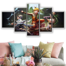 5 Panels Anime Naruto Swordsmen Poster Wall Art Home Decorative Modular Pictures Framework High Quality Canvas Print Painting high quality canvas print poster framework painting wall art home decorative 5 pieces anime unknown landscape modular pictures
