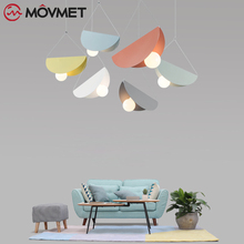 Vintage LED Wood pendant light Art dining room modern hang lamp E27 nordic pendant lights living room restaurants bar droplight