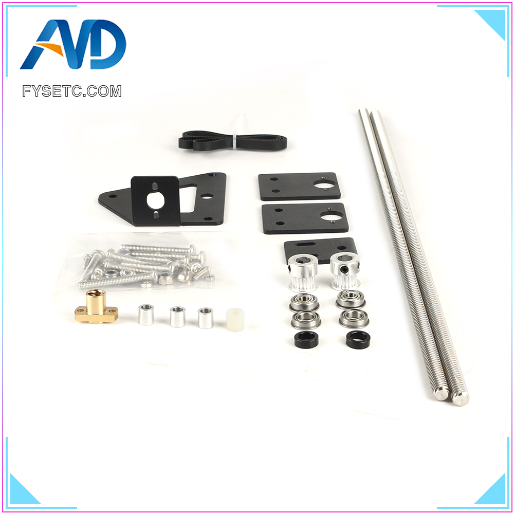 3D Printer Part Dual Z axis Upgrade Kit Dual Z Tension Pulley Set For Ender-3 3D Printer Single Motor Dual Z-axis