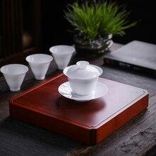 TANGPIN natural bamboo tea trays table handmade platters kung fu accessories