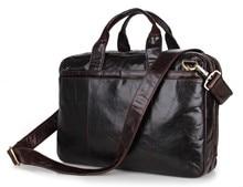 PASTE Free shipping High Quality JMD Men's Genuine Oily Leather Laptop Bag Shoulder Briefcases Handbag