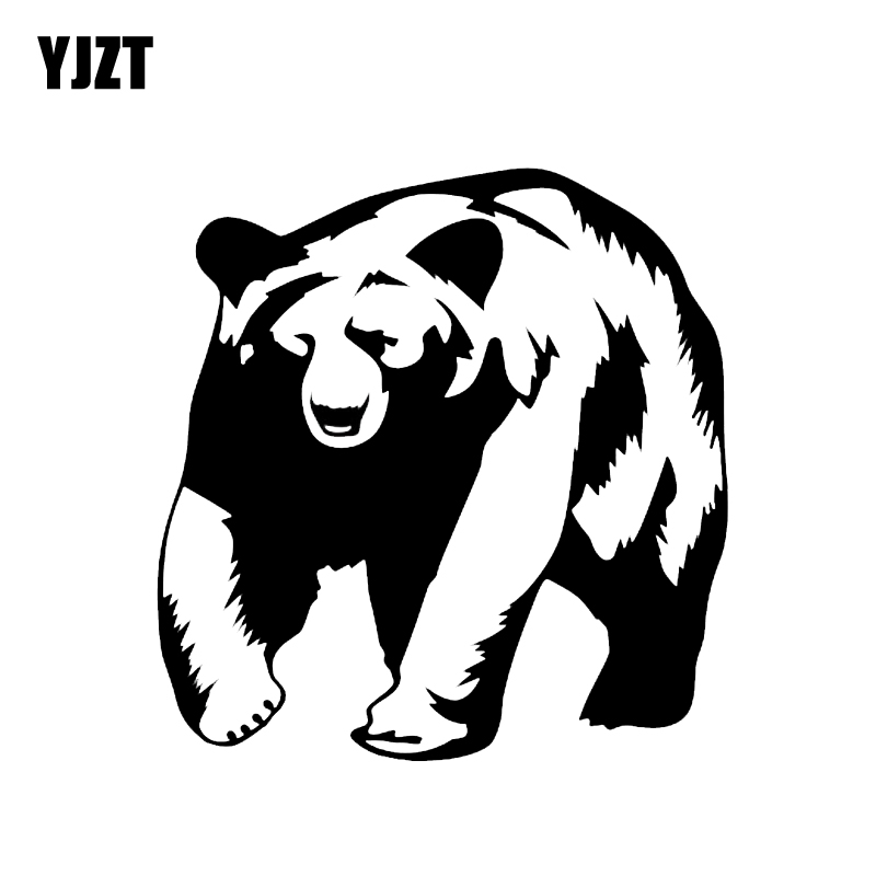 YJZT 14.2*14.8CM Mysterious Polar Bear Large Animals Car Sticker Vinyl Accessories Decoration C12-0462
