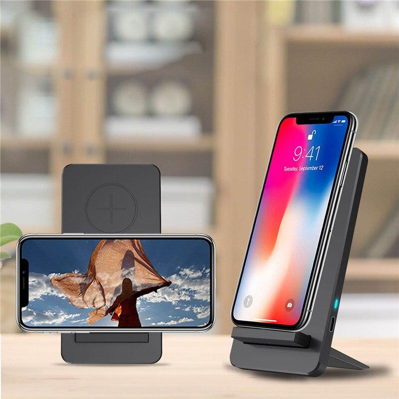 Double bobine Qi chargeur sans fil Charge rapide Charge rapide pour iPhone X Samsung S8 Station de chargement rapide sans fil Station d'accueil