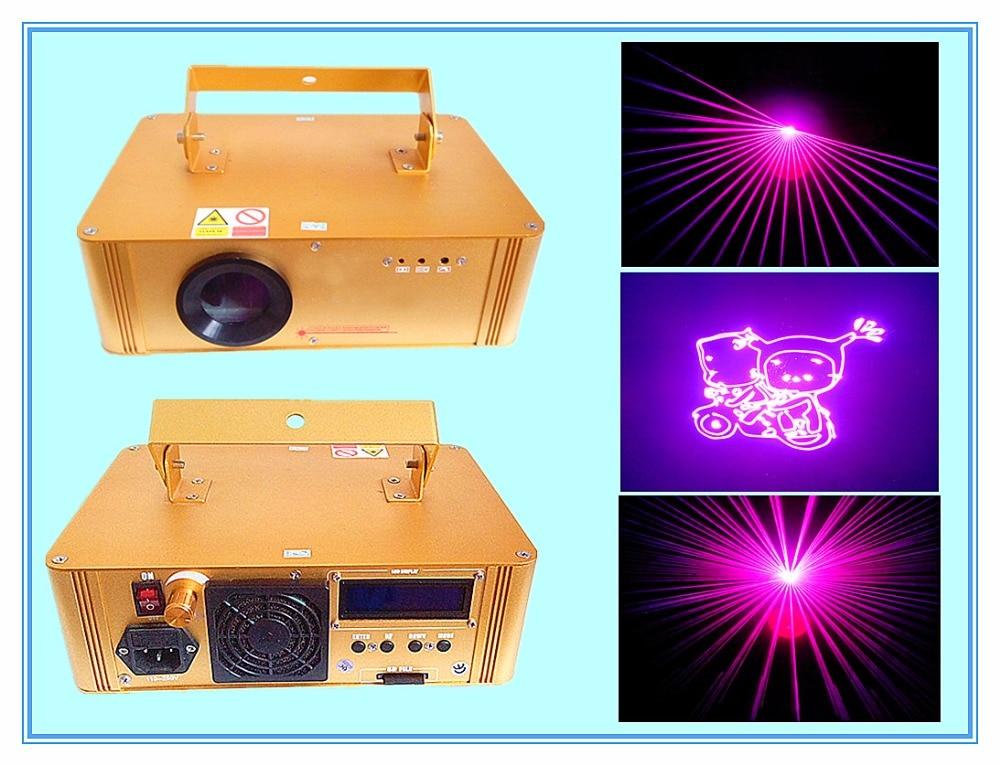 Rasha Hot Sale 300mw Rose Purple Multi Color SD Card Animation Laser Light Disco Laser Show