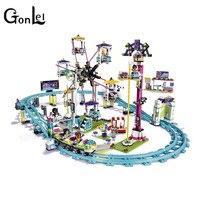 41130 Amusement Park Roller Coast 1124Pcs Mini Bricks Set Sale Friends Series 3D Building Blocks Toys