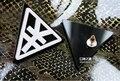 Fashionable Triangle Acrylic  RMB Hip Hop Earrings Studs    12 pairs /lot