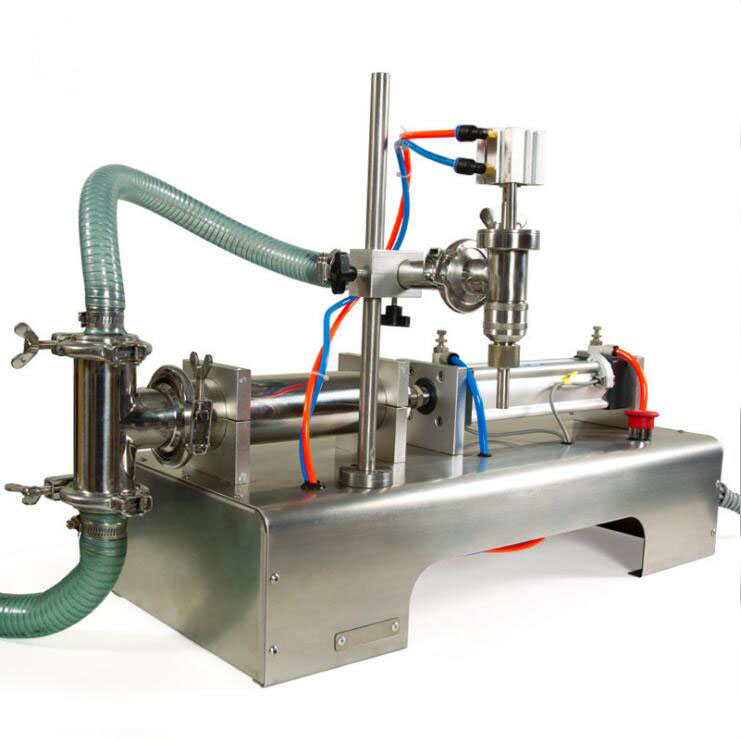 10-1000ml Commercial Horizontal Semi-automatic Pneumatic