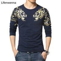 2015 Autumn New High End Men S T Shirt Fashion Slim Dragon Printing Atmosphere Tshirt Plus