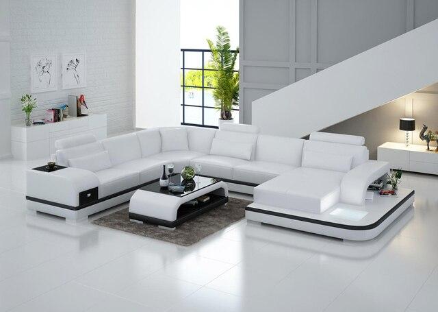 New Design Sofa Corner With Led Light