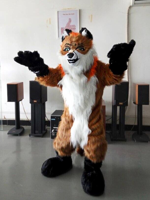 Renard chien Fursuit mascotte Costumes de noël fête d'anniversaire costume fantaisie robe carnaval tenue taille adulte