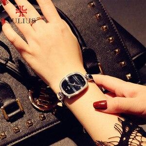 Image 5 - למעלה ליידי נשים של שעון יפן קוורץ שעות בסדר אופנה שמלת צמיד עור ריינסטון ילדה אלגנטית יום הולדת מתנה יוליוס