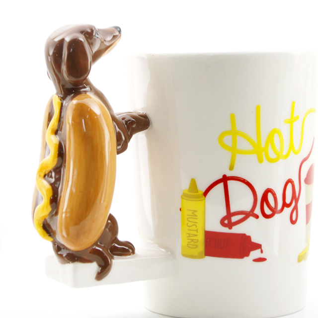 44643783203 1Piece Dachshund Sausage Pet Dog Personalised Mug Unique Sausage Dog Gift  Funny Fast Food Sausage Puppy Bassotto Cup