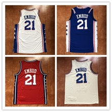 New Mens  21 Joel Embiid  25 Ben Simmons Throwback Basketball Jersey US  Size S-XXL Stitched Best Quality Jersey 9ffa87f48