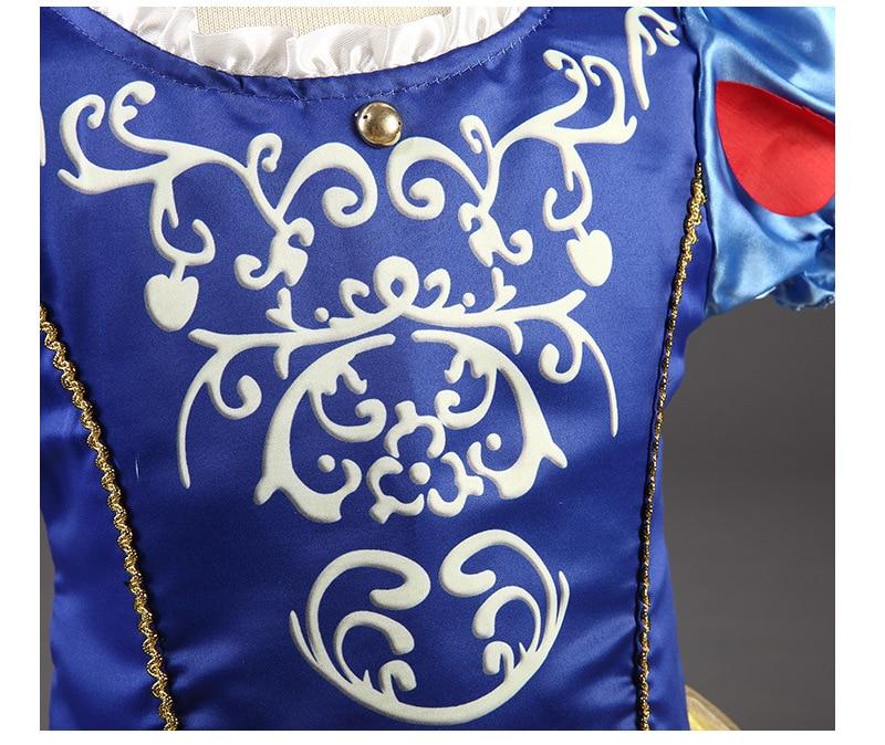 Send crown Baby Girls Dress Christmas Anna Elsa Cosplay Costume Summer Girl Princess Dress for Birthday Party Vestidos Menina
