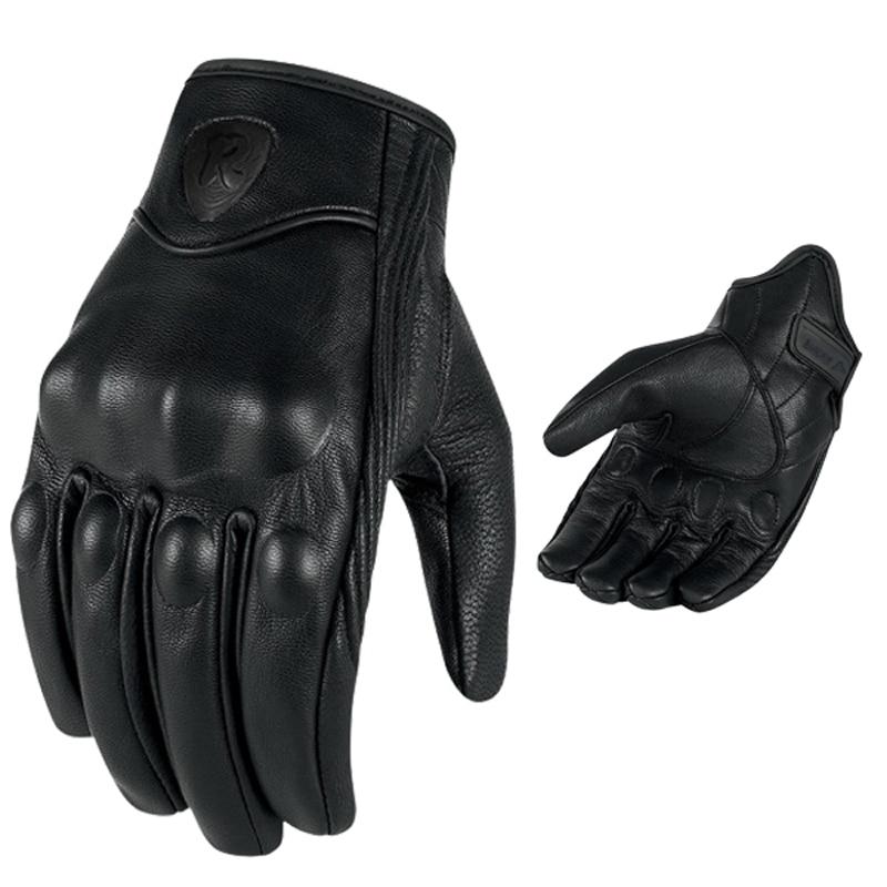 Männer Retro Motorrad Handschuhe Atmungs Perforierte Echt Leder Motor Motocross Motorrad Handschuhe Luva Motoqueiro Guantes Moto