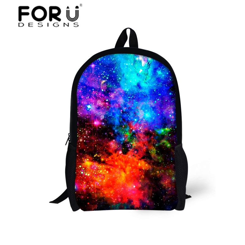 Women School Canvas Backpack Galaxy Star Universe Space Printing Backpacks for Girls Boys School Bagpack Bags Kids Mochila 2016