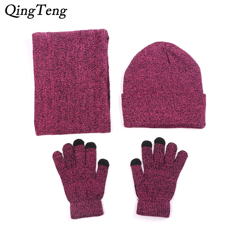 Scarf Hat Gloves For Women Men Winter Beanies Caps Touch Screen Glove Knit Ladies Hats Neck Warm Bib Balaclava Mask Gorras Bonne