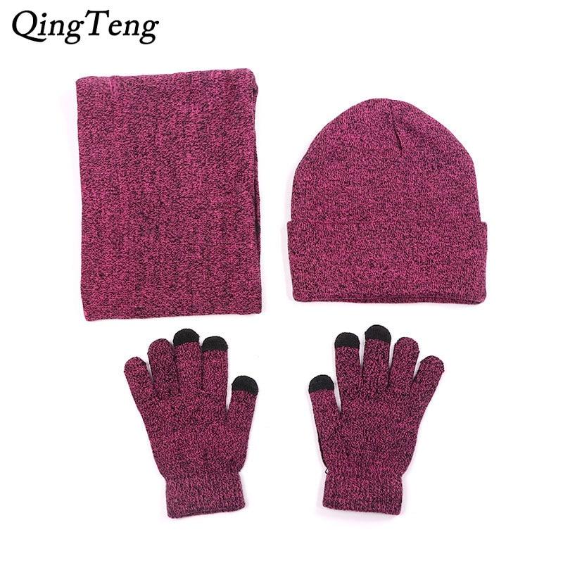 Scarf Hat Gloves For Women Men Winter Beanies Caps Touch Screen Glove Knit Ladies Hats Neck Warm Bib Balaclava Mask Gorras Bonne