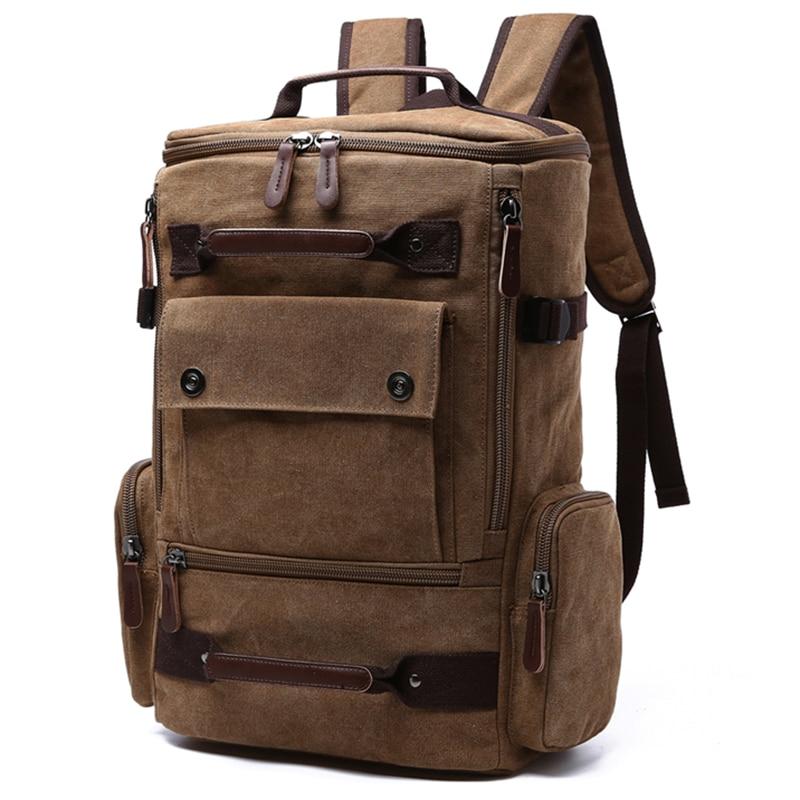 Vyrai Laptop Backpack 15 colių kuprinė drobė mokyklos krepšys - Kuprinės - Nuotrauka 2