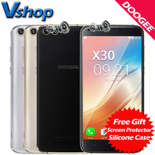 DOOGEE X30 3G Mobile Phones Android 7.0 2GB RAM 16GB ROM Quad Core Smartphone 2x8.0MP+2x5.0MP Four Cameras 5.5 inch Cell Phone