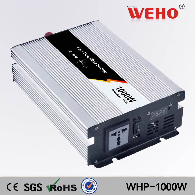 (WHP1000W-122) 1000w pure sine wave 12VDC to 220VAC/230VAC power solar inverter 1000w 12vdc to 220vac pure sine wave inverter with 10a ac charge for solar panel