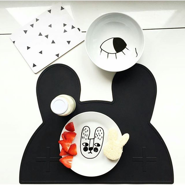New Design Safety Kitchen Accessories Silicone cloud bear rabbit Placemat Heat Resistant ...