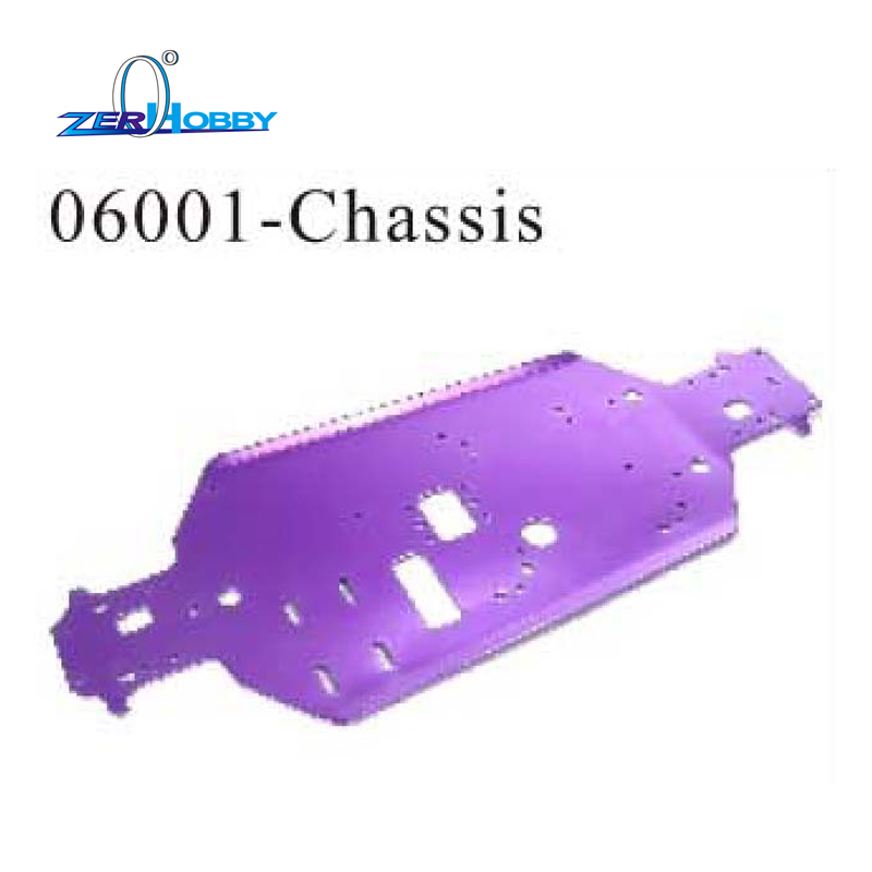 все цены на  RC CAR SPARE PARTS CHASSIS FOR HSP 1/10 NITRO BUGGY CAR 94105, 94106 (part no. 06001)  онлайн