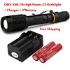 Super Bright NEW Waterproof 6000 Lumen CREE XML T6 LED Flashlight Torch Tactical 5 Mode Zoomable
