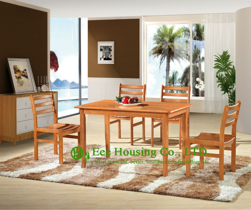 T-030,C-011  Solid  Wood Home Furniture For Living Room, Solid Wood Dinning Table Furniture With Chairs,