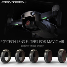 In Stock PGYTECH NEW Filter For DJI MAVIC Air Lens Filters UV CPL ND4 ND8 ND16 ND32 Filter kit MAVIC Air Drone Camera Accessory(China)