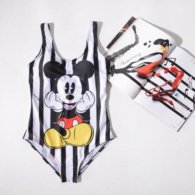 aa282ab7f0 New Summer One-piece Suits Women Swimwear Cartoon Print Cute Bikini Set  Swimsuit