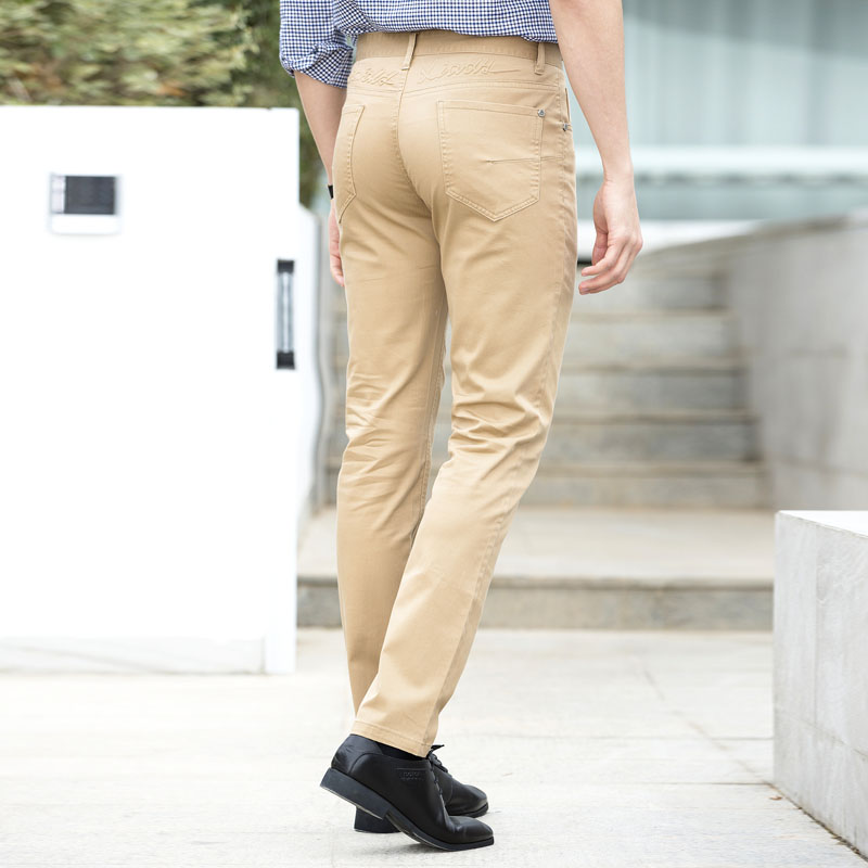 7c140347f154 2018 Summer Fashion Khaki Pants Men Smart Casual Slim Fit Suit Trousers  Male Chinos Long Dress Pants-in Casual Pants from Men s Clothing on  Aliexpress.com ...