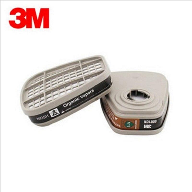 1pair=2pcs 3M 6001CN Filter Cartridge Respirator Organic Gas Protective Spray Paint Benz Vapors For 6000/7000 Series Gas Mask