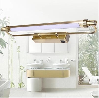 € 46.44 33% de réduction|Lampes de miroir de salle de bain à LED classiques  en Bronze lampara Pared applique murale Vintage lumières appliques murales  ...
