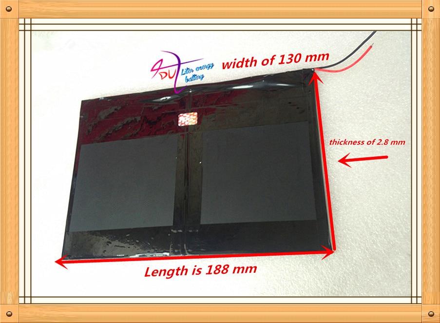 Tablet PC talk9x u65gt,battery 28*130*188 3.7V 10000 mah Li - ion battery 'for 28130188 polymer battery Tablet battery cube u30gt mini tablet battery plate 3563125 battery
