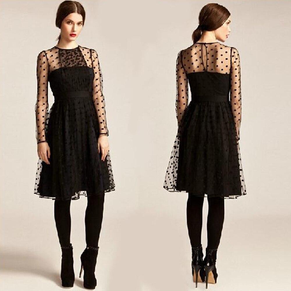 2016 Spring Net Yarn Dresses Party Elegant Polka Dot ...