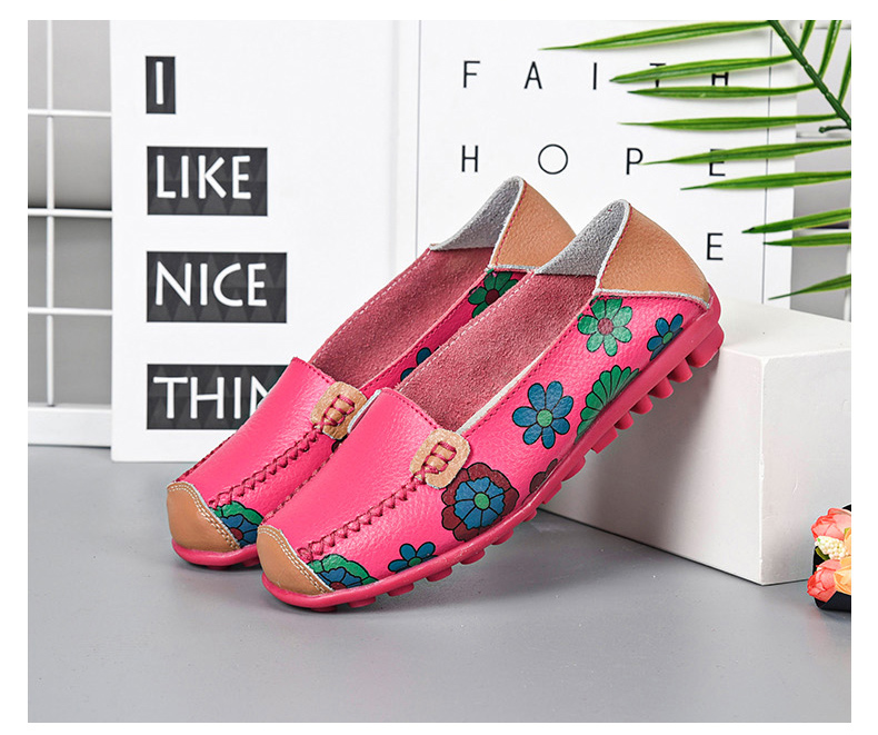 STS BRAND New Spring Women Genuine Leather Ballet Flats Casual Shoes Women Round Toe Slip On Flats Female Loafers Ballerina shoe (13)